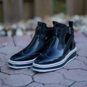 Zara Cut Out Black Ankle Boots